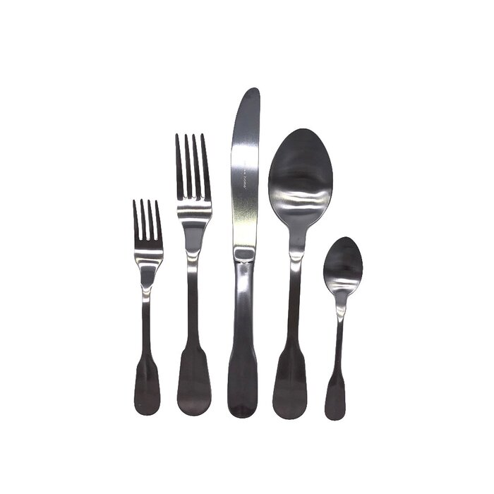 5-Piece Canvas Home Madrid Stainless Steel Flatware Set (Stainless Steel)