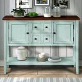 Morrissey 46'' Wide 4 Drawer Acacia Wood Buffet Table by Rosalind Wheeler