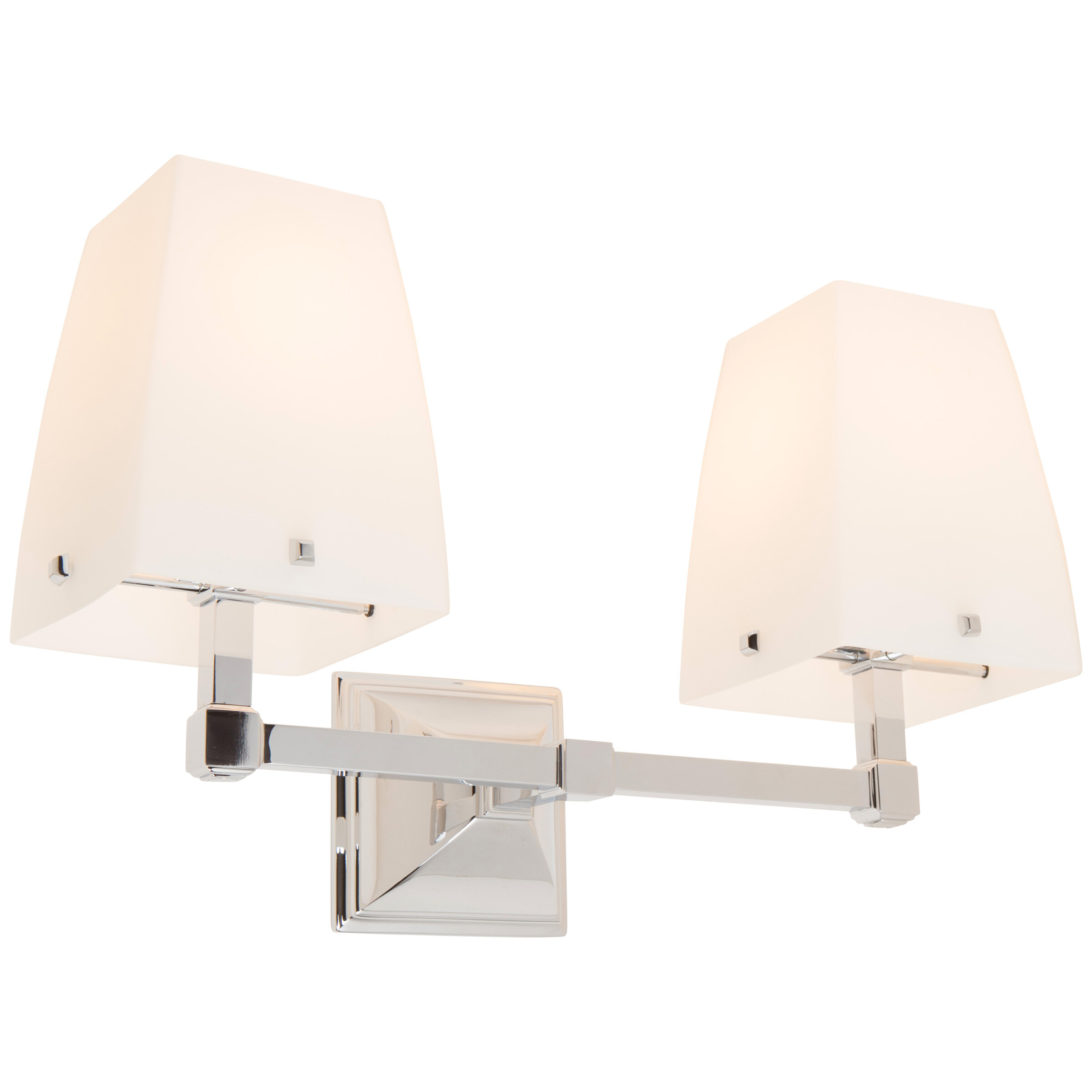 Ginger Quattro Down 2 Light Armed Sconce In Satin Etched Cased Opal Glass Wayfair