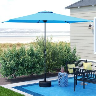 Highland Dunes Bookout 10' x 6.5' Rectangular Market Umbrella