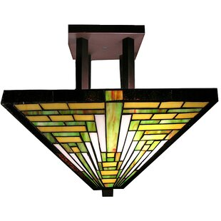 Frank Lloyd Wright 2-Light Semi Flush Mount by Warehouse of Tiffany
