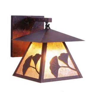 Compare prices Prairie 1-Light Outdoor Wall Lantern By Steel Partners