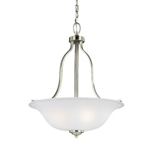 Darby Home Co Burhall 3-Light Bowl Pendant