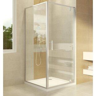 Saxon 90cm W x 90cm D x 185cm H Square Sliding Door Shower Enclosure by Belfry Bathroom