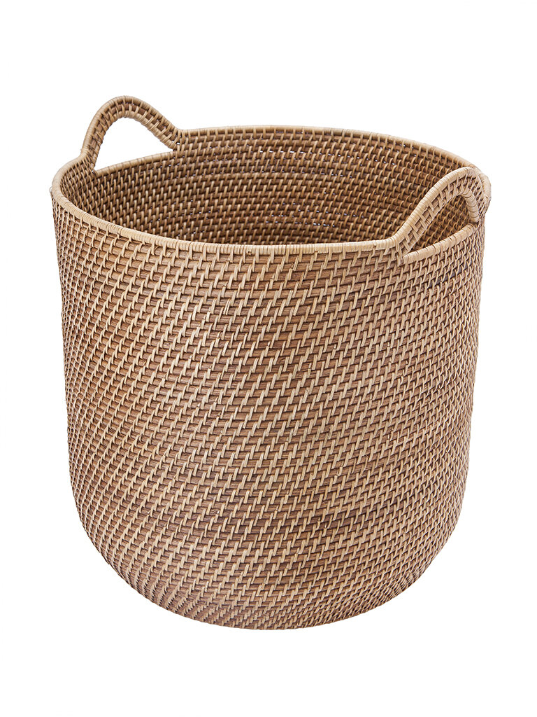 Genial Beachcrest Home Round Rattan Storage Basket With Ear Handles U0026 Reviews |  Wayfair