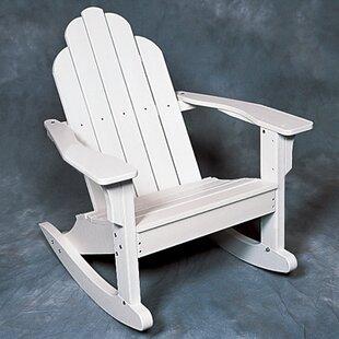 Classic Plastic Rocking Adirondack Chair