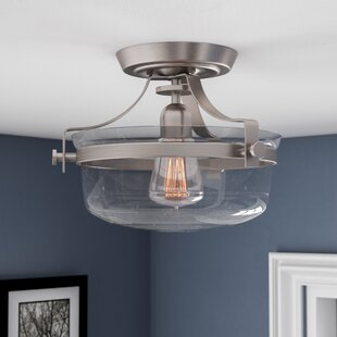 Saxony Station Semi-Flush Mount by Three Posts