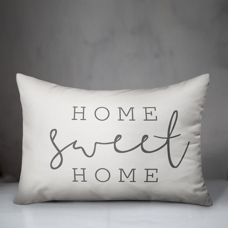 Gracie Oaks Colfax Home Sweet Home Thin Indoor Outdoor Lumbar Pillow Reviews Wayfair