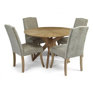 Dangerfield Dining Set With 4 Chairs By Ophelia & Co.