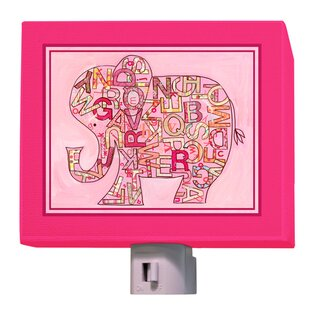 Oopsy Daisy Pink Alphabet Elephant Night Light