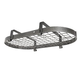 USA Handcrafted Gourmet Low Ceiling Oval Pot Rack By Enclume