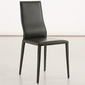 Data Genuine Leather Upholstered Dining Chair by YumanMod