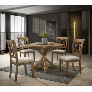 Leonila Cross-Buck 5 Piece Dining Set Gracie Oaks