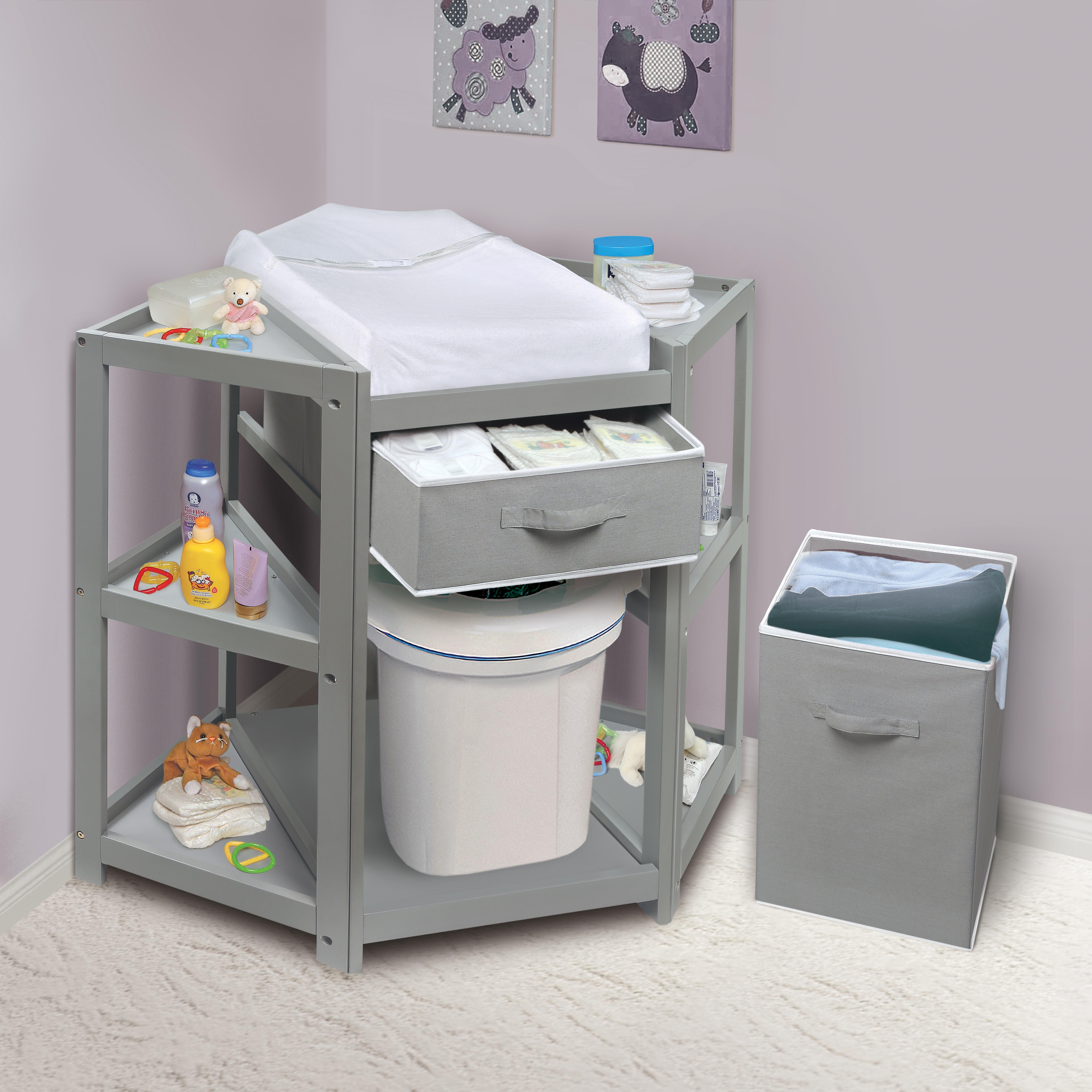 Badger Basket Diaper Corner Baby Changing Table | Wayfair