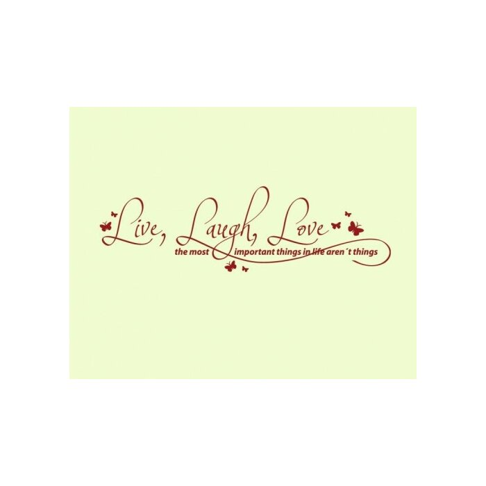 Live, Laugh, Love Quote Wall Decal