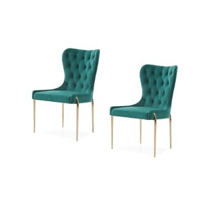 Christchurch Upholstered Side Chair (Set of 2) Everly Quinn
