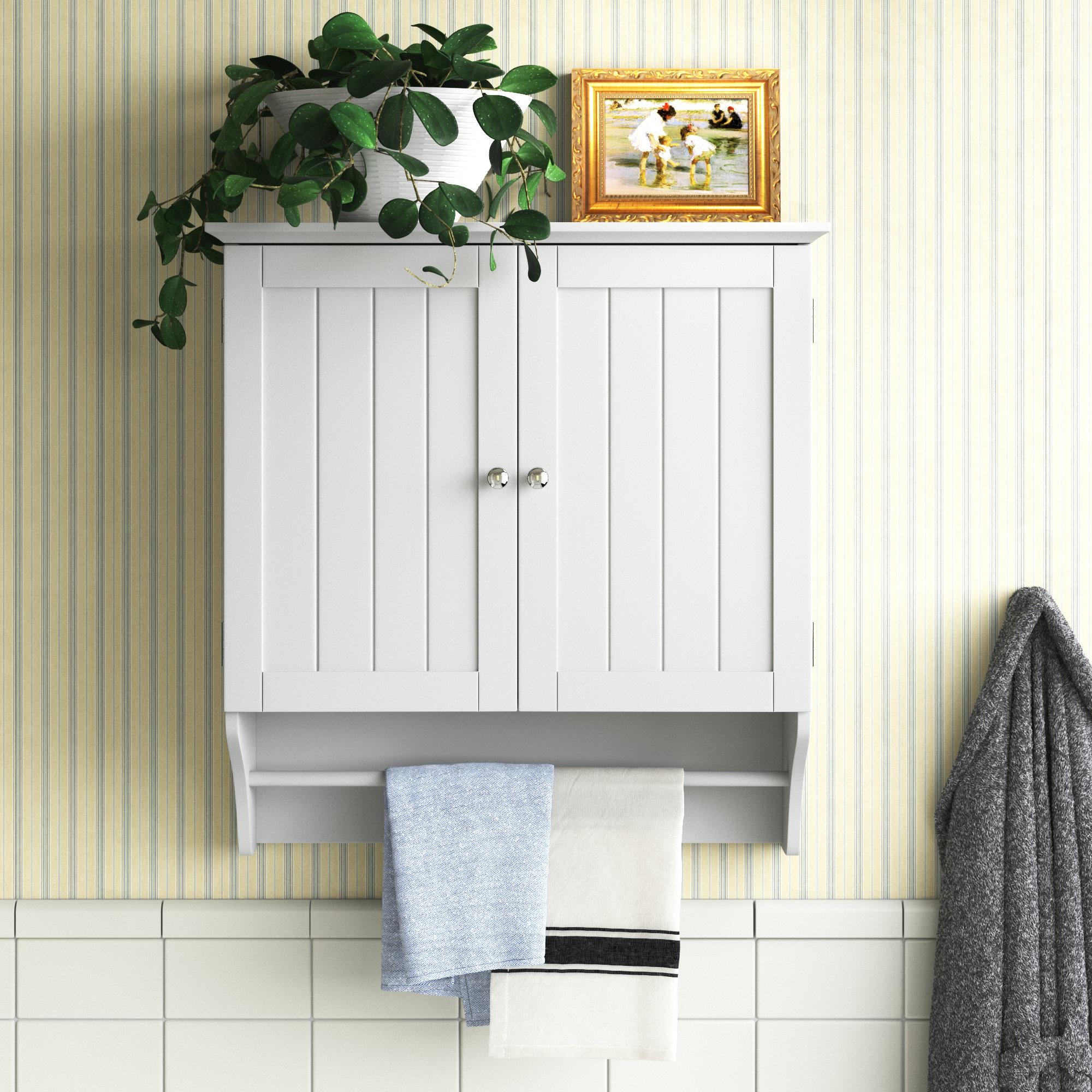 Andover Mills Ashland 23 8 W X 25 4 H X 8 86 D Wall Mounted Bathroom Cabinet Reviews Wayfair