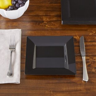 Wayfair Basics Plastic Square Salad Plates (Set of 120)