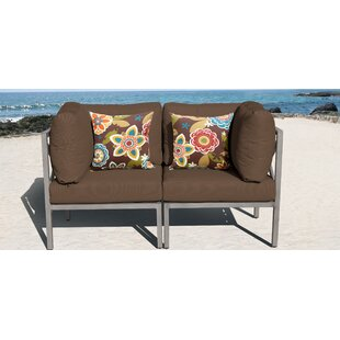 Carlisle Patio Loveseat with Cushions