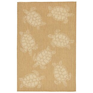 Clatterbuck Seaturtle Almond/Camel Indoor/Outdoor Area Rug
