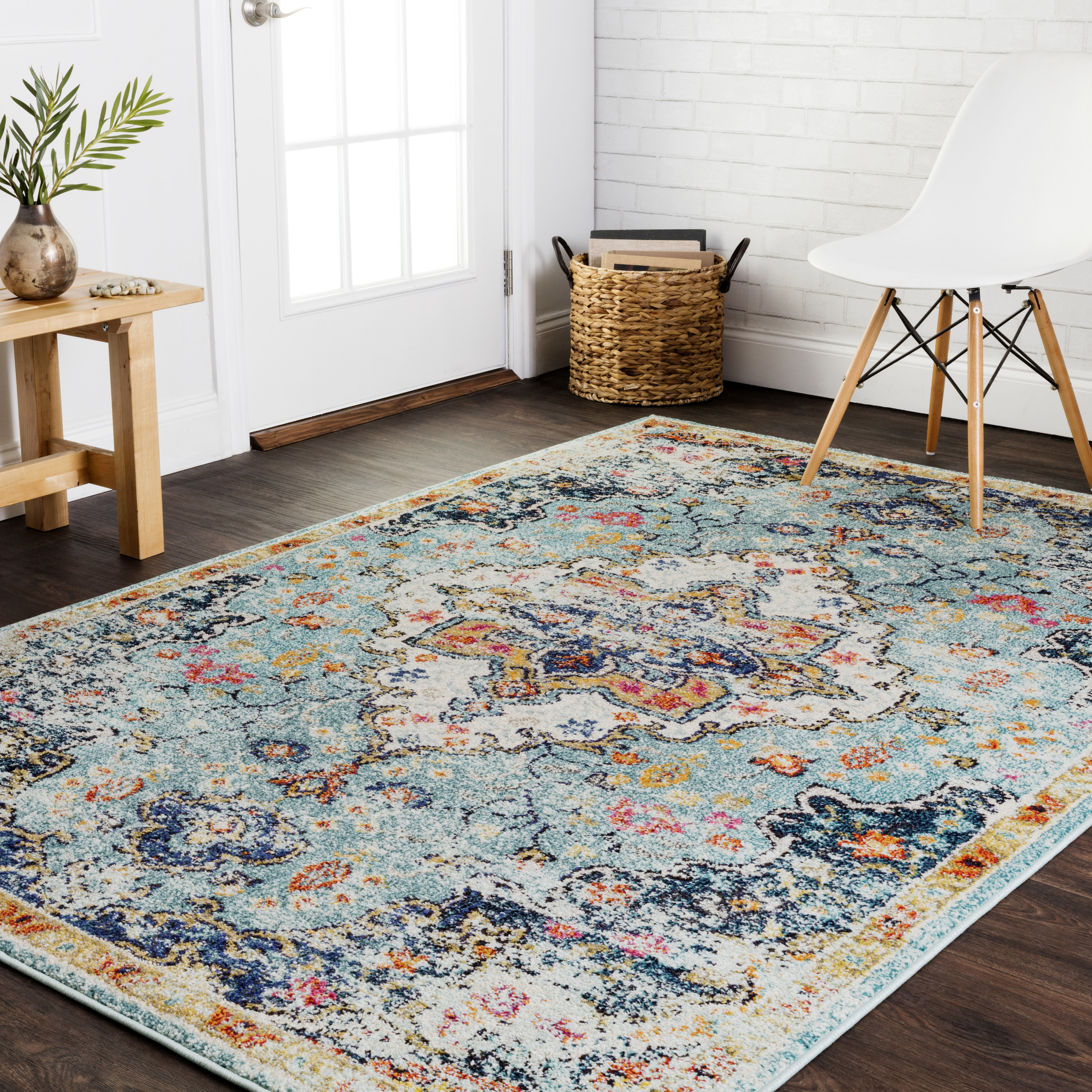 Lorenz Blue Brown Area Rug Reviews