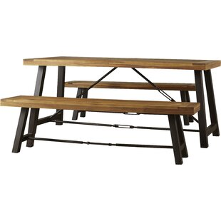 Benigna 3 Piece Wood Picnic Table