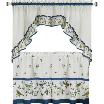 Achim Home Furnishings Achim Home Imports Live Love Laugh Window Curtain Tier
