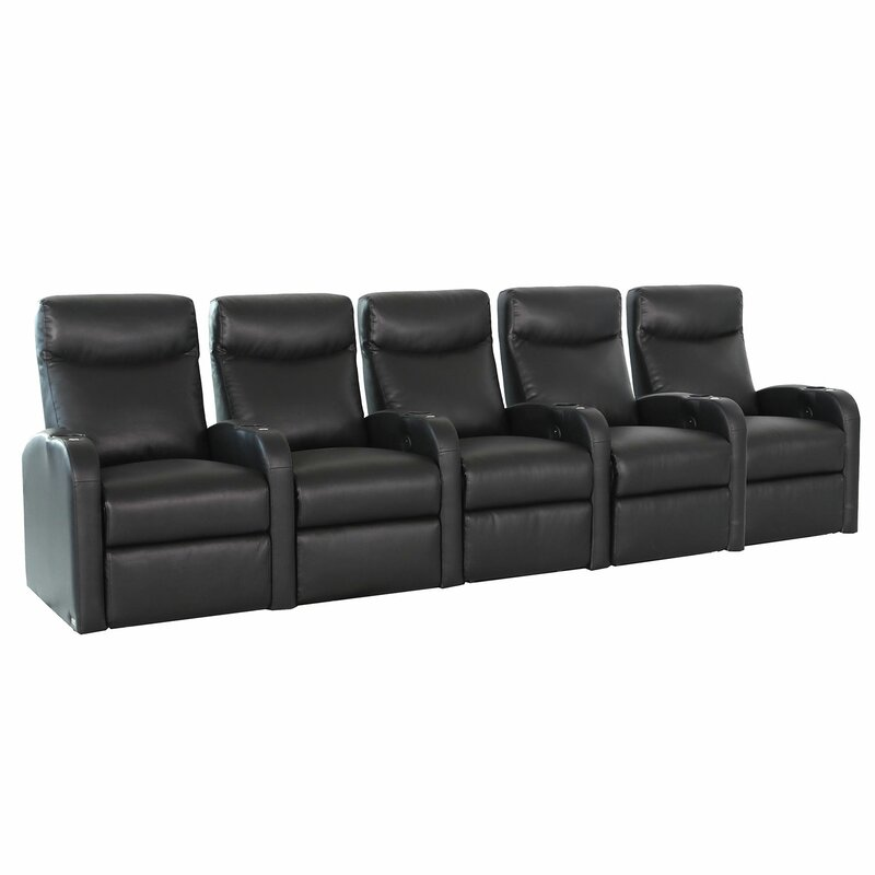 Ebern Designs Lounger Home Theater Row Seating (Row of 5)