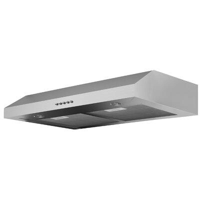 "Ancona 30"" Slim Plus 325 CFM Ducted Under Cabinet Range Hood  Finish: Stainless Steel"
