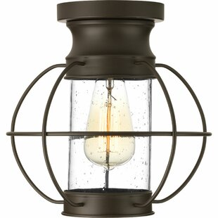 Nayeli 1-Light Semi Flush Mount by Breakwater Bay