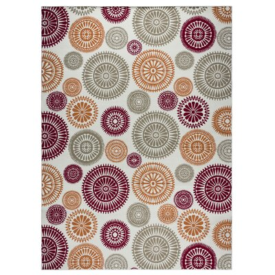 Andover Mills Priscila Orange/ Red/ Green/ Indoor/Outdoor Area Rug Rug Size: Rectangle 6'7 x 9'6