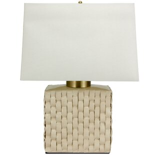 Basket Weave Porcelain Jar 23  Table Lamp