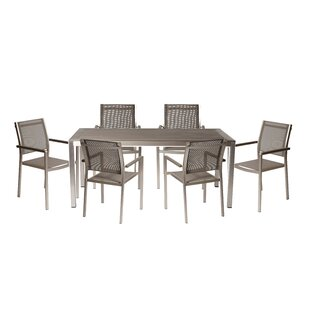 Willa Arlo Interiors Alaia 7 Piece Dining Set