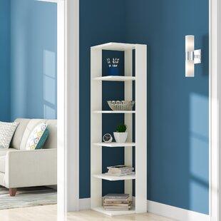 Read Reviews Gaudette Modern Corner Bookcase by Ebern Designs