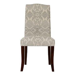 Red Barrel Studio Lasseter Beige/Gray Upholstered Parsons Chair (Set of 2)