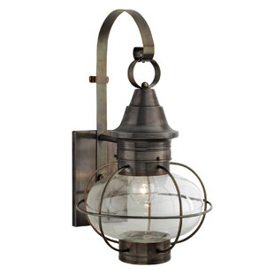 Gracie Oaks Lyla 1-Light Outdoor Wall Lantern