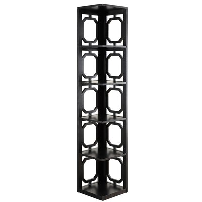 Ardenvor Corner Bookcase Color: Black by Beachcrest Home