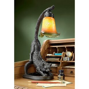 Crouching Cat 18 Arched Table Lamp