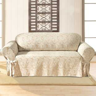 Sure Fit Scroll Classic Box Cushion Sofa Slipcover