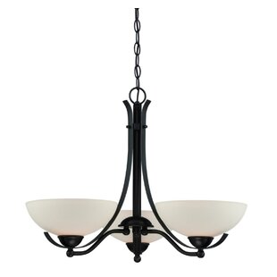 Fleur De Lis Living Cleaves 3-Light Shaded Chandelier