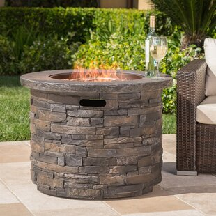17 Stories Altair Stone Propane Fire Pit Table