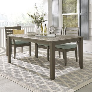 Brook Hollow Solid Wood Dining Table by Three Posts