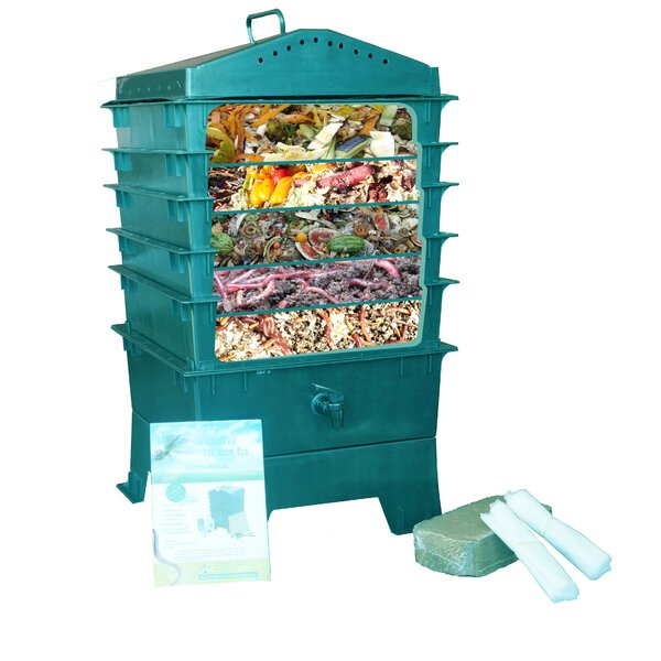 5-Tray VermiHut 4 cu. ft. Worm Bin Set