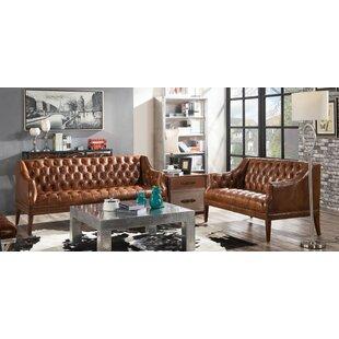 Redd 2 Piece Leather Sofa Set By Williston Forge
