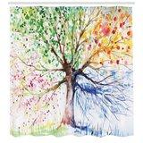 Seasons Tree Print Single Shower Curtain byEast Urban Home
