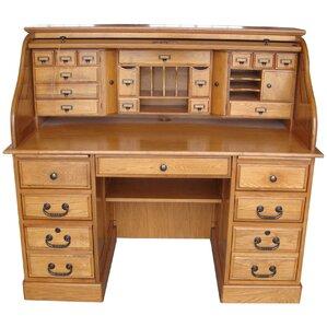 marlin deluxe roll top credenza desk - Credenza Furniture