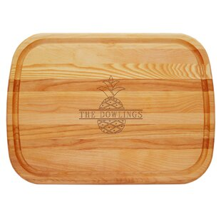 Wood Personalized Pineapple Everyday Chopping Board