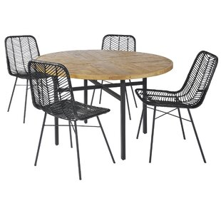 Chretien Dining Table Set With 4 Chairs By Bay Isle Home