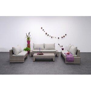 4-tlg. Loungesofa-Set Kreta mit Kissen von Garden Impressions