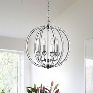 Rosdorf Park Cardenas 4-Light Globe Chandelier